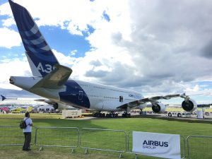 The A380 at Farnborough Air Show